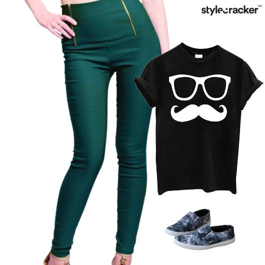 Casual TShirt SlipOns Comfort Jeggings - StyleCracker