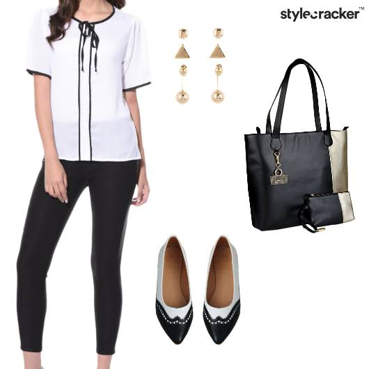 Blouse Pants Work Classic Casual - StyleCracker