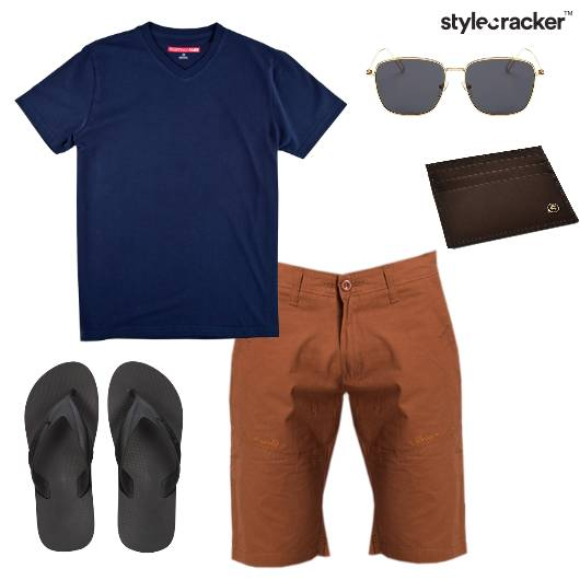 Tshirt Shorts Casual Outdoor  - StyleCracker