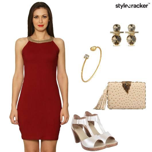 Dress Bodycon Heels clutch Bracelet Party - StyleCracker
