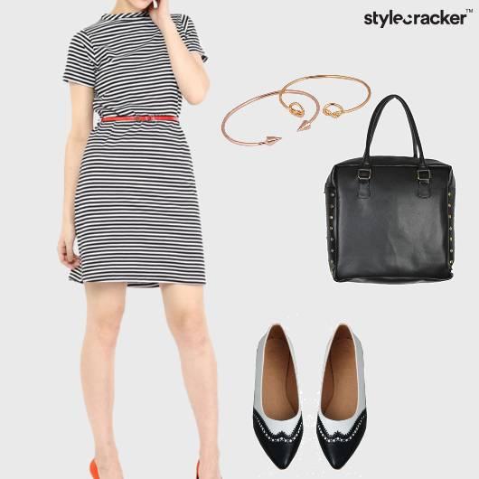 Dress Striped Flats Handbag Shopping - StyleCracker