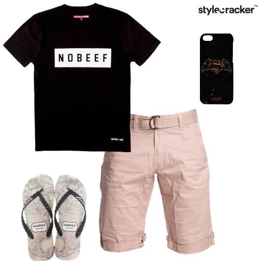 Tshirt Shorts FlipFlops Phonecover Casual - StyleCracker