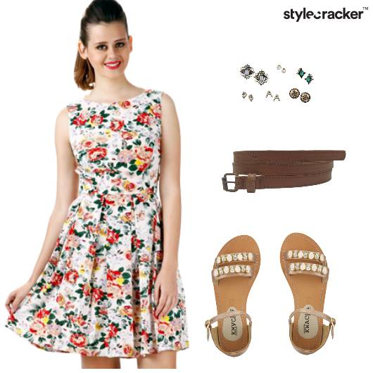 Floral Dress Flats Casual  - StyleCracker