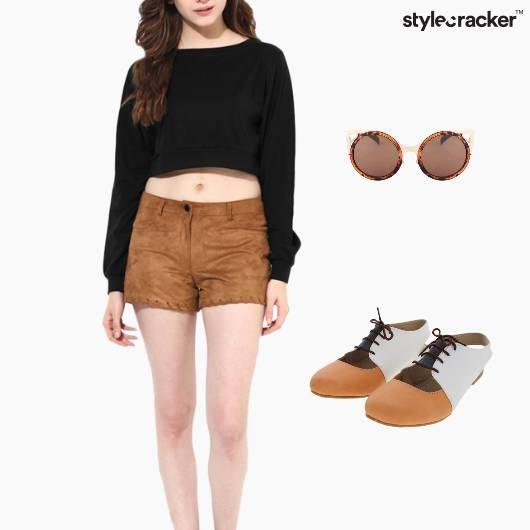 CropTop Shorts Casuals Weekend Comfort - StyleCracker