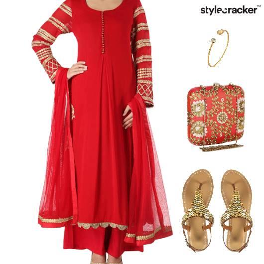Indian Festive Flats Ethnic Reception - StyleCracker