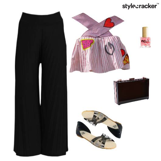 CropTop Flats Clutch Dinner Weekend - StyleCracker