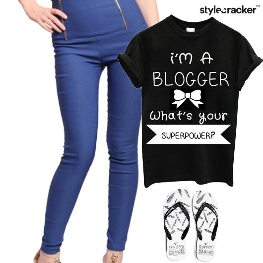 TShirt Jeggings FlipFlop Weekend Casual - StyleCracker