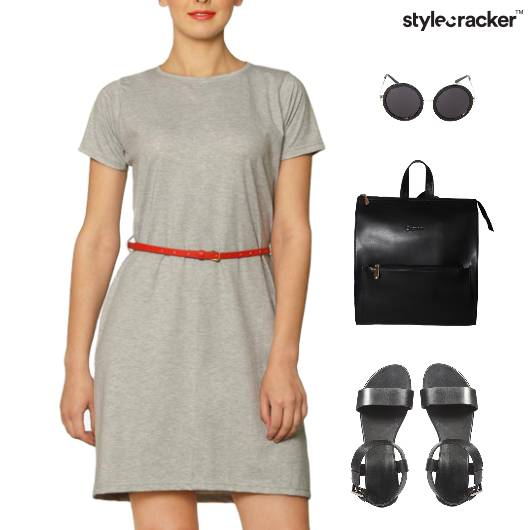 TShirt Dress Backpack Flats Sunglasses College - StyleCracker