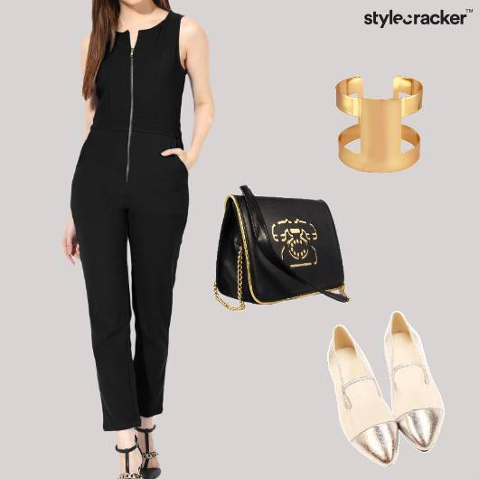 Jumpsuit Flats Crossbodybag Cuff Party - StyleCracker