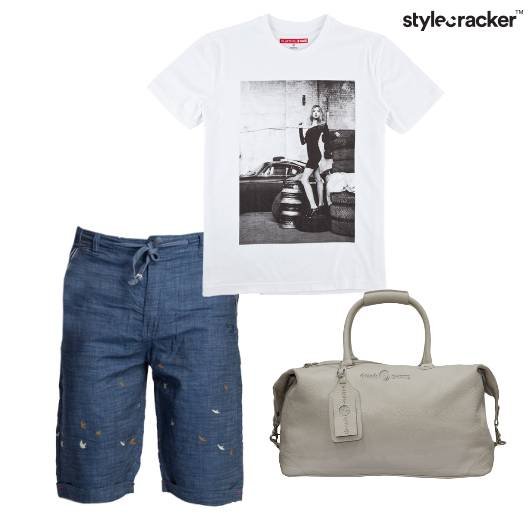 Tshirt Graphic Shorts Chambray DuffelBag Travel - StyleCracker