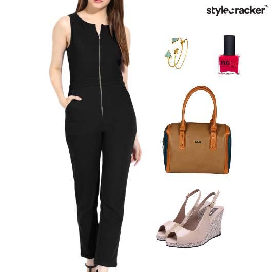 JumpSuit Wedges Footwear Meeting Accessories - StyleCracker