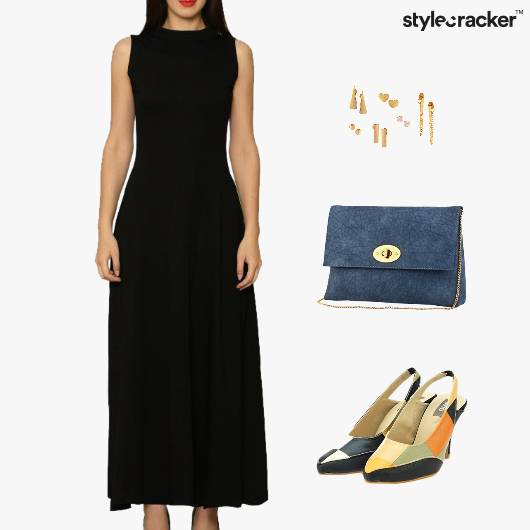 Maxi Dress ColorBlock Footwear Accessories - StyleCracker