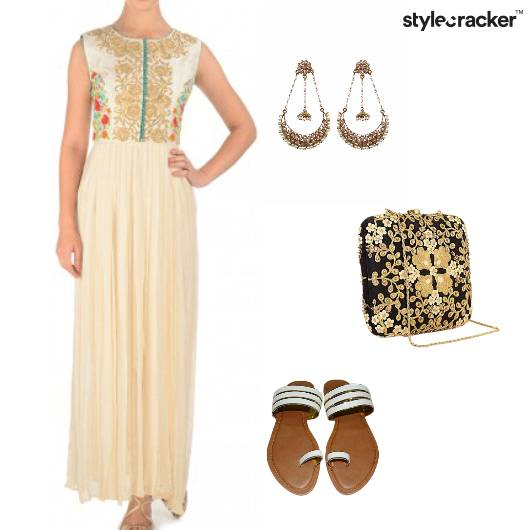 Suit Maxi Flats Clutch ChandBalis Indian - StyleCracker