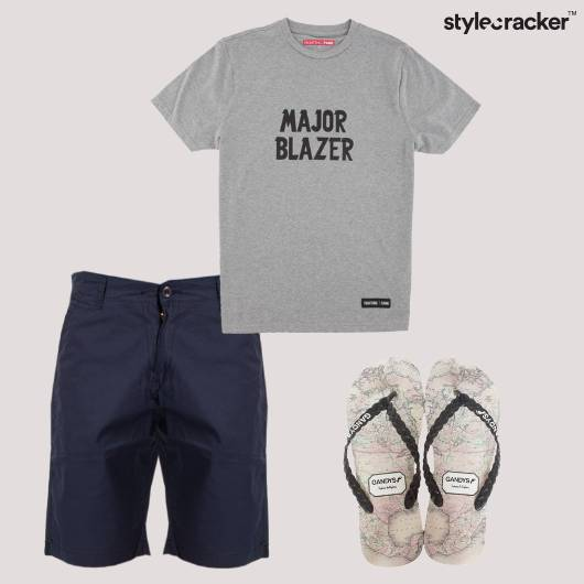 Tshirt Shorts FlipFlops Casual - StyleCracker