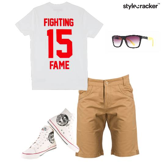 Tshirt Shorts Hightops Sunglasses Casual - StyleCracker