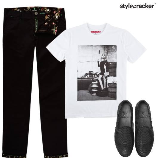 Tshirt Chinos Shoes Casual - StyleCracker
