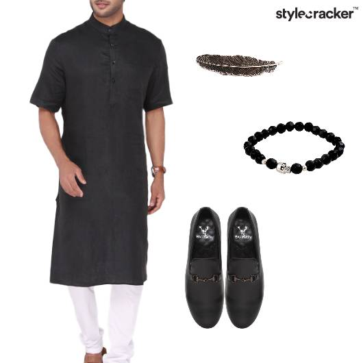 Kurta Indian Ethnic  Wedding Monochrome - StyleCracker