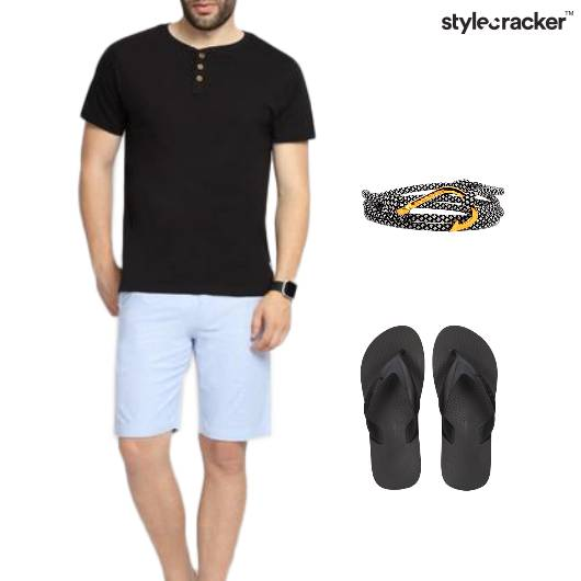 Basic Tshirt Shorts Casual  - StyleCracker