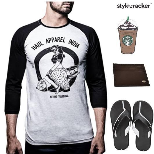 Tshirt Shorts Casual Coffee Monochrome - StyleCracker