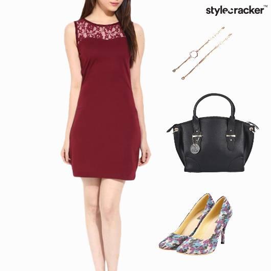 Lace Dress Dinner Accessories Weekend - StyleCracker