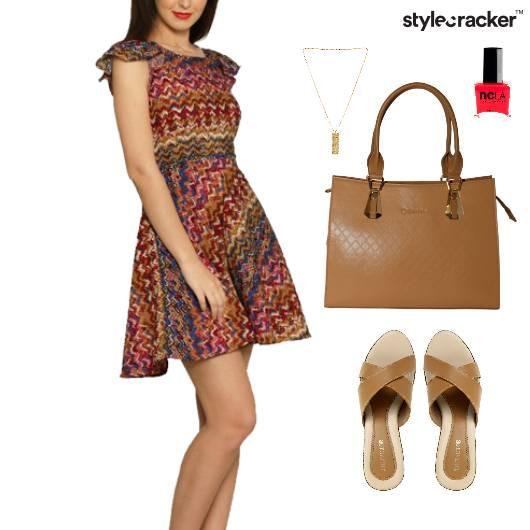 Printed Dress  Lunch Accessories Weekend - StyleCracker
