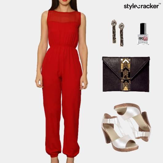Jumpsuit Clutch Dinner Date Accessories - StyleCracker