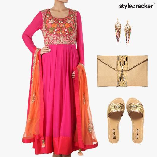 Indian Festive Flats Ethnic Anarkali - StyleCracker