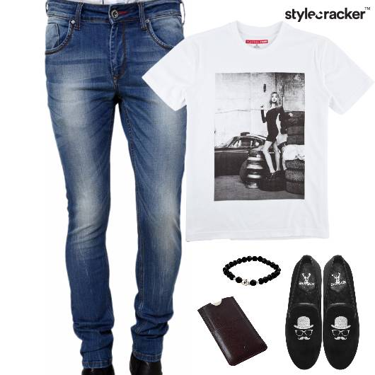 Casual TShirt SlipOn Denim Footwear - StyleCracker