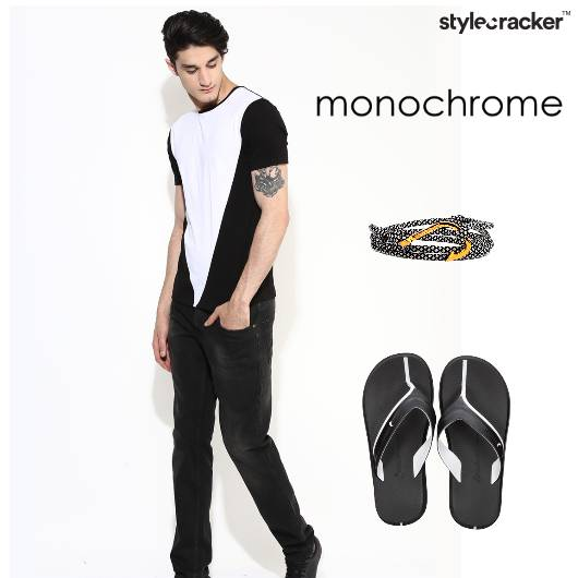 Casual Tshirt Chinos Monochrome - StyleCracker