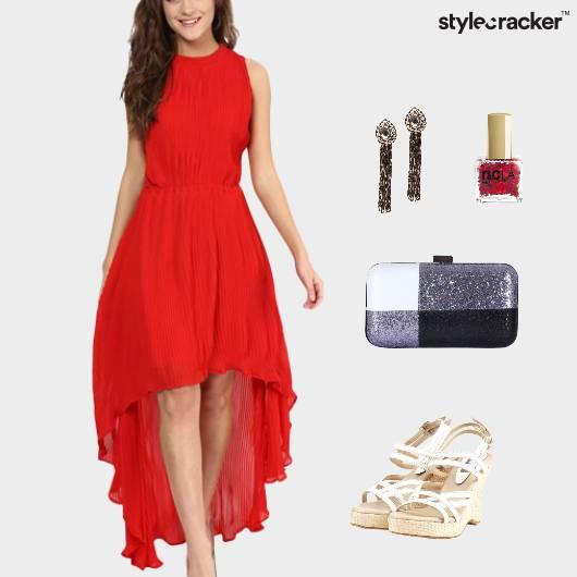 HighLow Dress Wedge Footwear Dinner - StyleCracker