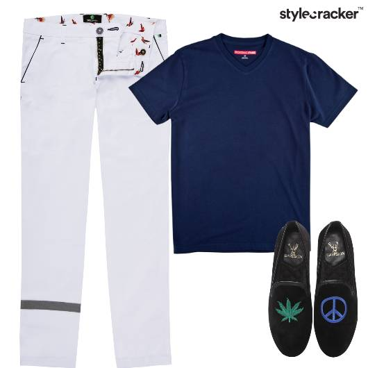 Tshirt Chinos Casual Outdoor Lunch - StyleCracker
