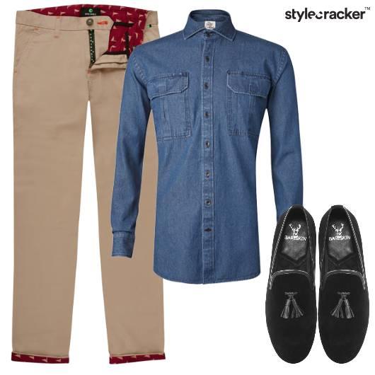 Demin Shirt Chino Casual Outdoor Lunch - StyleCracker