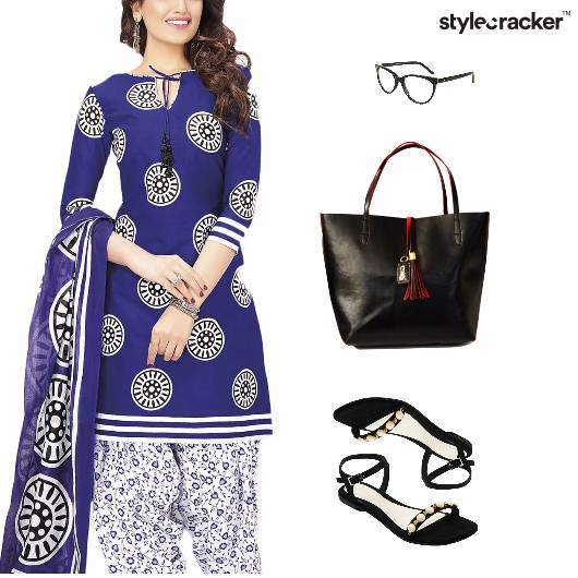 Indian Ethnic Flats Work Tote Bag - StyleCracker