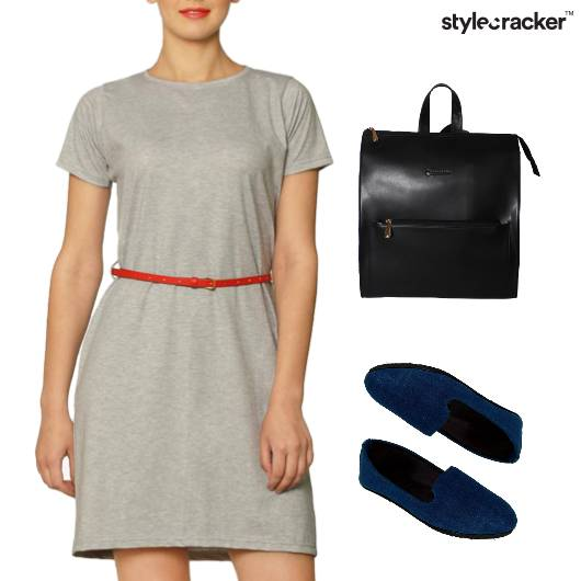TShirt Dress BackPack College Casual - StyleCracker