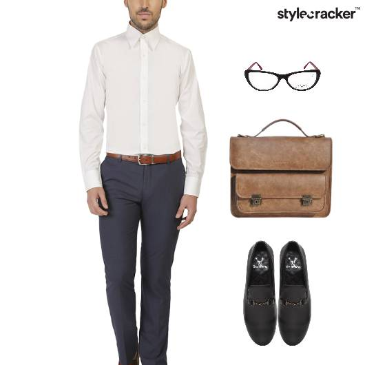 Shirt Trousers SlipOn Footwear Work - StyleCracker