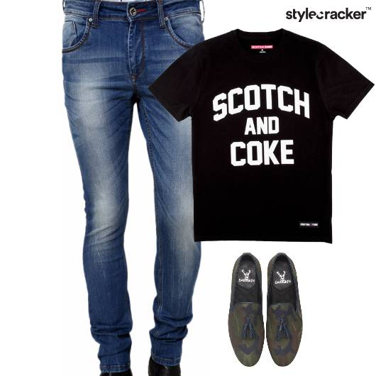 Slogan TShirt SlipOns Casual Lunch - StyleCracker