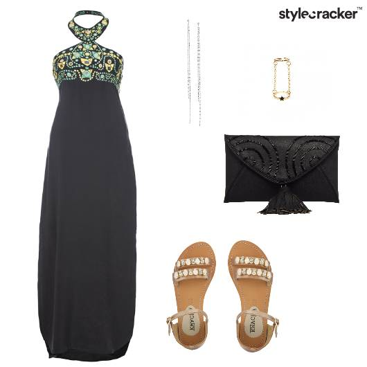 HalterNeck Midi Dress Lunch Gathering - StyleCracker