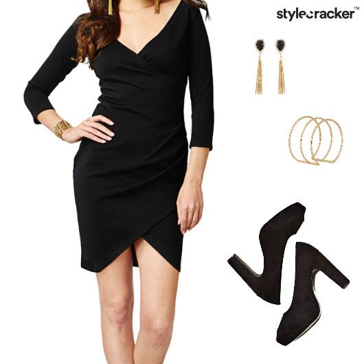 BodyconDress Earrings Bracelet Pumps Party - StyleCracker