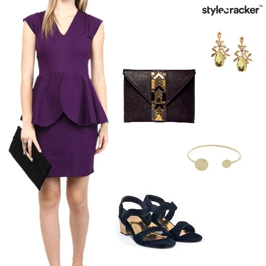 Peplum  Dress Party BlockHeels Night - StyleCracker