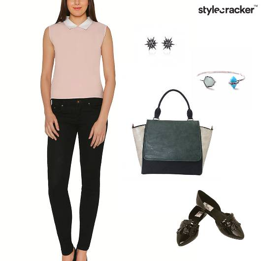 Collar Blouse Pants Work Basic - StyleCracker