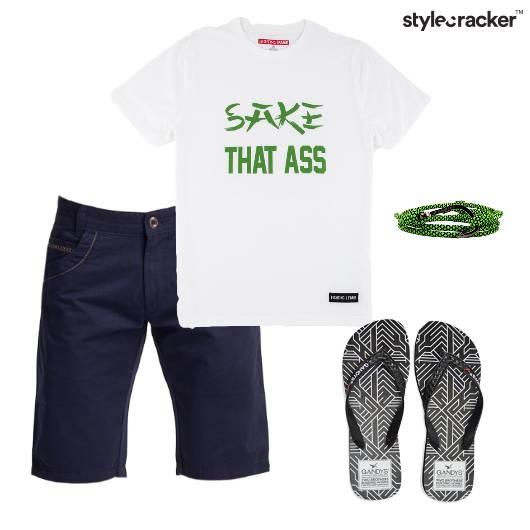 Tshirt Shorts Casual Outdoor College - StyleCracker