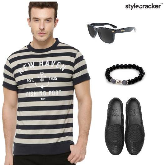 Stripe Tshirt Pants Casual Outdoor - StyleCracker