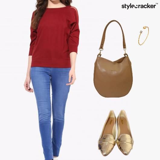 Top Jeans ToteBag Bracelet FlatPumps - StyleCracker