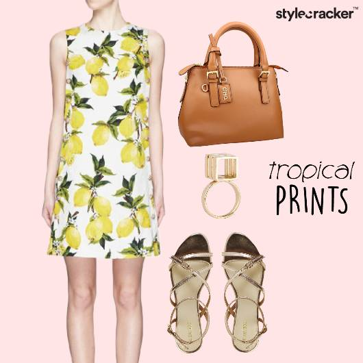 Dress Tropical Flats Casual  - StyleCracker