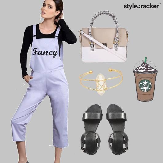 Dungaree Fancy Casual Handbag  - StyleCracker