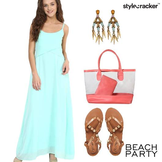 Mint Vacation BeachDay Flats  - StyleCracker