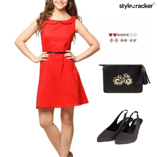 PanCollar Dress Clutch Dinner EarringSet - StyleCracker