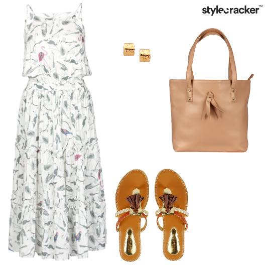 Print Midi Dress Tassel Trending - StyleCracker