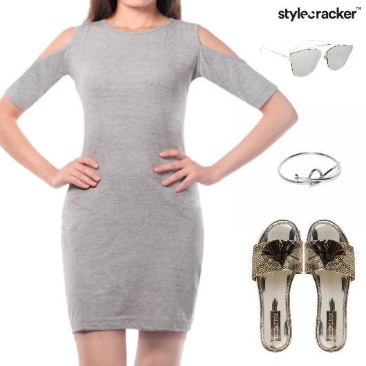 Cutwork Dress Bracelet Sandals Sunglasses - StyleCracker