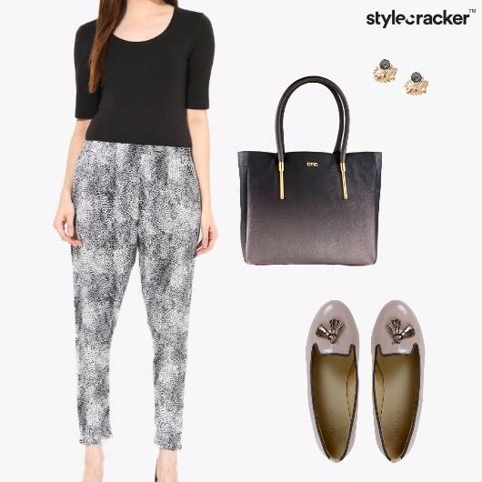 Top Pants Earrings ToteBag Ballet Flats - StyleCracker